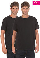 Double Pack Round Neck S/S T-Shirt black