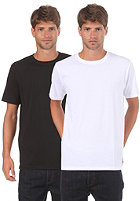 LAKEVILLE MOUNTAIN Double Pack Round Neck S/S T-Shirt black/white