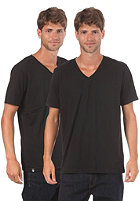 LAKEVILLE MOUNTAIN Double Pack V Neck S/S T-Shirt black