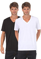 LAKEVILLE MOUNTAIN Double Pack V Neck S/S T-Shirt black/white