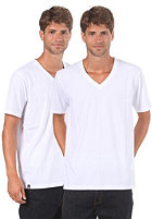 LAKEVILLE MOUNTAIN Double Pack V Neck S/S T-Shirt white