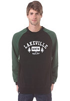 LAKEVILLE MOUNTAIN Est With Love Crew Sweatshirt black/forrest green