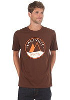 LAKEVILLE MOUNTAIN Logo S/S T-Shirt brown/orange/white