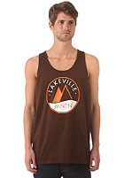 LAKEVILLE MOUNTAIN Logo Tank Top brown/orange/white