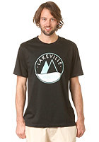 LAKEVILLE MOUNTAIN Logo Three Tone S/S T-Shirt black/mint/white