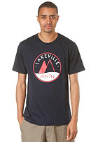 LAKEVILLE MOUNTAIN Logo Three Tone S/S T-Shirt navy/red