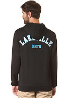 LAKEVILLE MOUNTAIN Patch Hooded Zip Sweat black/white/cyan