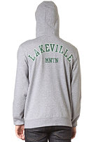 LAKEVILLE MOUNTAIN Patch Hooded Zip Sweat grey heather/forrest green