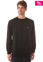 LAKEVILLE MOUNTAIN Plain Crewneck Sweat black/cyan