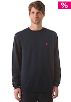 LAKEVILLE MOUNTAIN Plain Crewneck Sweat deep navy/red