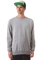 LAKEVILLE MOUNTAIN Plain Crewneck Sweat grey heather/green