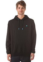LAKEVILLE MOUNTAIN Plain Hooded Sweat black/cyan