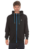 LAKEVILLE MOUNTAIN Plain Hooded Zip Sweat black/cyan