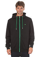 LAKEVILLE MOUNTAIN Plain Hooded Zip Sweat black/green