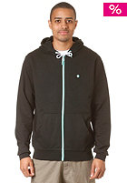 LAKEVILLE MOUNTAIN Plain Hooded Zip Sweat black/mint