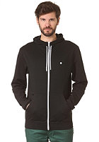 LAKEVILLE MOUNTAIN Plain Hooded Zip Sweat black/white