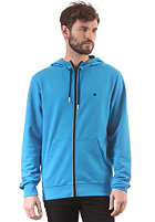 LAKEVILLE MOUNTAIN Plain Hooded Zip Sweat cyan/black