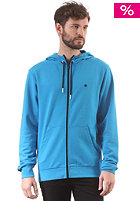 Plain Hooded Zip Sweat cyan/black