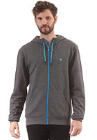 LAKEVILLE MOUNTAIN Plain Hooded Zip Sweat dark grey heather/cyan