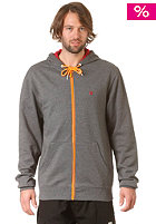 LAKEVILLE MOUNTAIN Plain Hooded Zip Sweat dark grey/heather orange