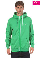 LAKEVILLE MOUNTAIN Plain Hooded Zip Sweat green/white