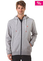 LAKEVILLE MOUNTAIN Plain Hooded Zip Sweat grey heather/red