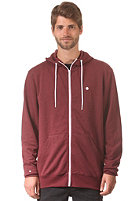 LAKEVILLE MOUNTAIN Plain Hooded Zip Sweat maroon heather/white