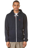 LAKEVILLE MOUNTAIN Plain Hooded Zip Sweat navy heather/red
