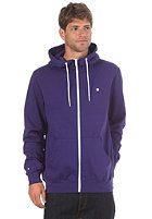 LAKEVILLE MOUNTAIN Plain Hooded Zip Sweat purple/white