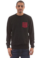 LAKEVILLE MOUNTAIN Pocket Crew Sweatshirt black/maroon