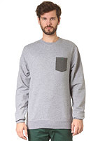 LAKEVILLE MOUNTAIN Pocket Crew Sweatshirt grey heather/forrest green