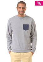 LAKEVILLE MOUNTAIN Pocket Crewneck grey heather/navy heather