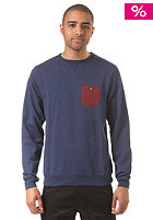LAKEVILLE MOUNTAIN Pocket Crewneck navy heather/maroon heather