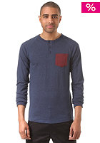 LAKEVILLE MOUNTAIN Pocket Henley navy heather/maroon heather