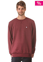 LAKEVILLE MOUNTAIN Premium Crewneck maroon heather/white