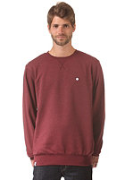 LAKEVILLE MOUNTAIN Premium Crewneck Sweat maroon heather/white