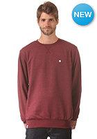 LAKEVILLE MOUNTAIN Premium Crewneck Sweat maroon heather/white