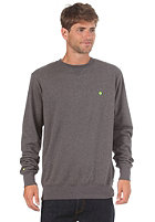 LAKEVILLE MOUNTAIN Premium Crewneck Sweatshirt dark heather grey/lime