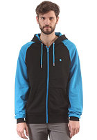 LAKEVILLE MOUNTAIN Premium Hooded Zip Sweat black/cyan/white