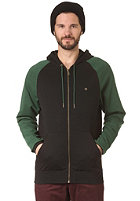 LAKEVILLE MOUNTAIN Premium Hooded Zip Sweat black/forrest green/gold