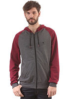 LAKEVILLE MOUNTAIN Premium Hooded Zip Sweat dark grey heather/maroon/black