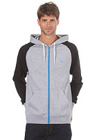 LAKEVILLE MOUNTAIN Premium Hooded Zip Sweat grey heather/black/cyan