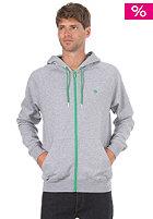 LAKEVILLE MOUNTAIN Premium Hooded Zip Sweat grey heather/green
