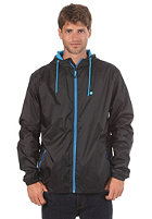 LAKEVILLE MOUNTAIN Premium Ripstop Windbreaker black/cyan