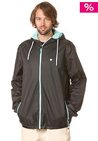 LAKEVILLE MOUNTAIN Premium Ripstop Windbreaker black/white/mint