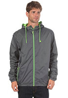 LAKEVILLE MOUNTAIN Premium Ripstop Windbreaker dark grey/lime
