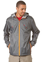 LAKEVILLE MOUNTAIN Premium Ripstop Windbreaker dark grey/orange