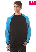 LAKEVILLE MOUNTAIN Raglan Crewneck Sweat black/cyan