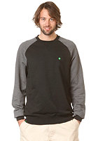 LAKEVILLE MOUNTAIN Raglan Crewneck Sweatshirt dark grey heather/black/kelly green