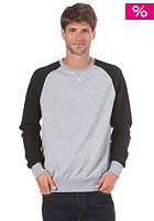 LAKEVILLE MOUNTAIN Raglan Crewneck Sweatshirt grey heather/black/mint